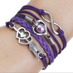 Jewelry - Women Multi-Layer Love Leather Bracelet